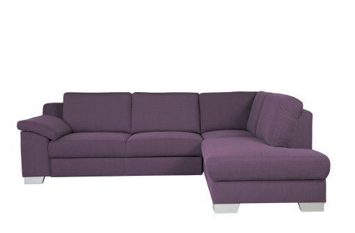 Rozkladacia sedačka DOVER vo fialovej látke.
