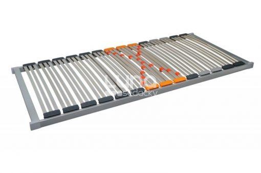 Luxusný pevný lamelový rošt so 42 lamelami šírky 28 mm uloženými v pružných plastových puzdrách.