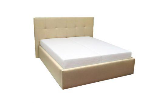 Moderná čalúnená posteľ MILANO v béžovej farbe s matracmi.