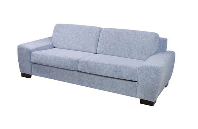 Pohodlná rozkladacia sedačka ORLANDO v modrej farbe.