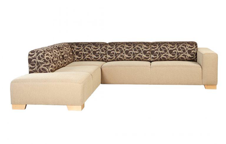 Moderná sedačka MAMBA s moderným vzorom na operadlovej časti.
