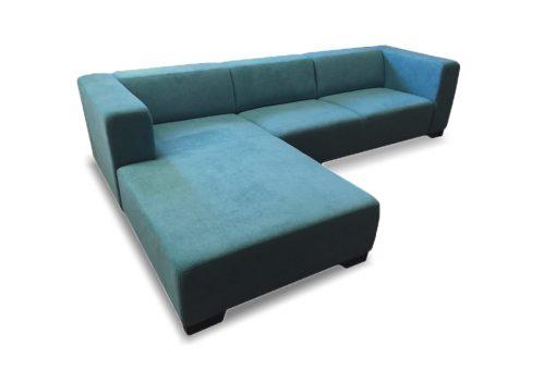 Moderná sedačka MAMBA v modrej farbe.