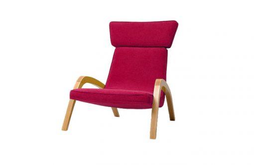 Dizajnové relaxačné kreslo JAZZ MAX v červenom čalúnení.