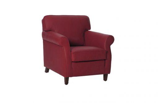 Pohodlné klasické kreslo SOUL v červenej farbe.