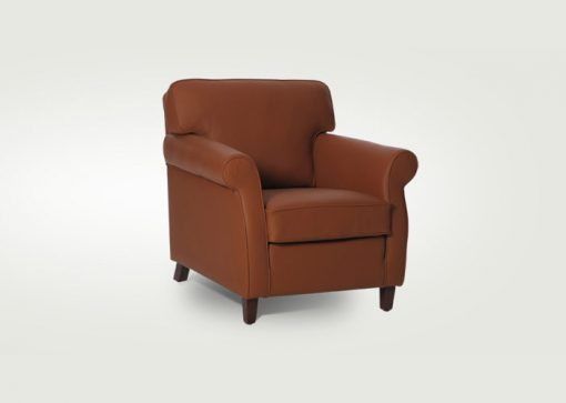 Pohodlné klasické kreslo SOUL v hnedej farbe.