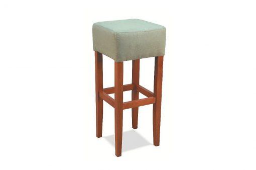 Pohodlná stolička HOME s dlhými drevenými nohami bez operadla.