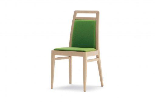 Univerzálna stolička Manchester so zeleným čalúnením.