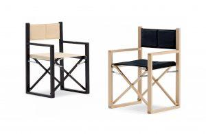 Dve jedinečné stoličky SONOMA v kombinácii čiernej a béžovej farby.
