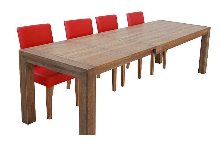 Jedálenský stôl BIG v rozloženom stave.