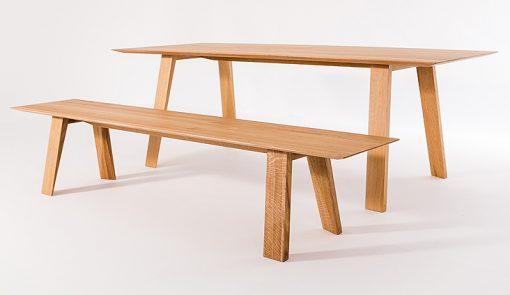 Jedálenský stôl a lavica TENKY.