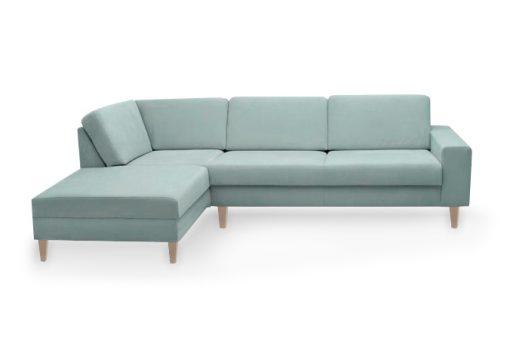 Dizajnová a nadčasová sedačka MANHATTAN s pohodlným sedením v modrej farbe.