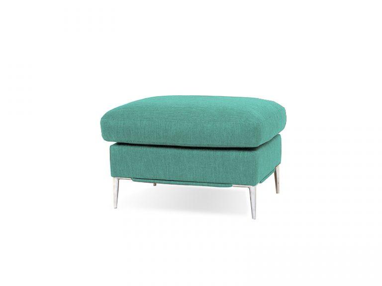 Taburet LUNA v zelenej farbe spája elegantný dizajn s vysokým komfortom sedenia.