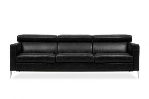 Dizajnová sedačka LUNA v čiernej farbe spája elegantný dizajn s vysokým komfortom sedenia.