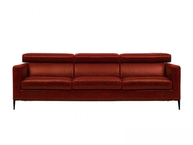 Dizajnová sedačka LUNA v červenej farbe spája elegantný dizajn s vysokým komfortom sedenia.