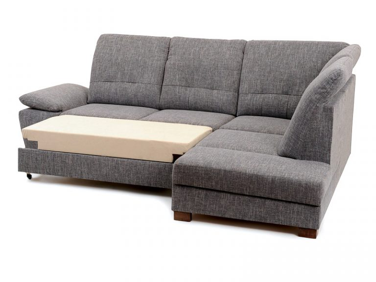 Rozložené lôžko vankúšovej pohodlnej polohovateľnej sedačky MALMO s možnosťou úložného priestoru.