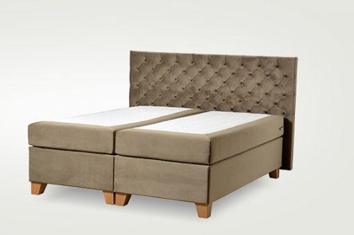 Komfortná čalúnená posteľ hotelového typu BED-BOX, FLORENCIA 3 v hnedej farbe.