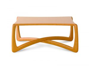 Jedinečný drevený konferenčný stolík značky Brik.