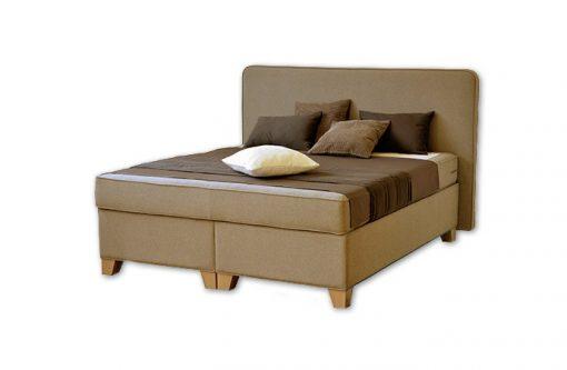 Komfortná posteľ hotelového typu BED-BOX FLORENCIA 1 v horčicovej farbe.