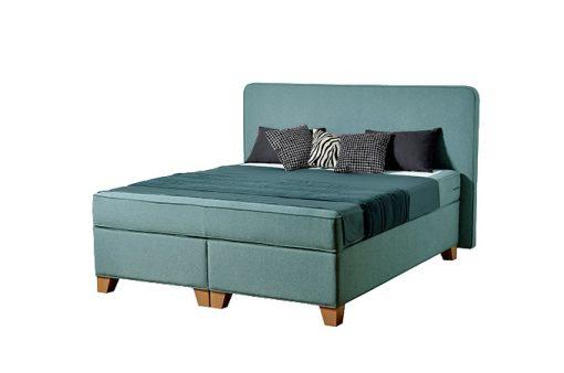 Komfortná posteľ hotelového typu BED-BOX FLORENCIA 1 v zelenej farbe.