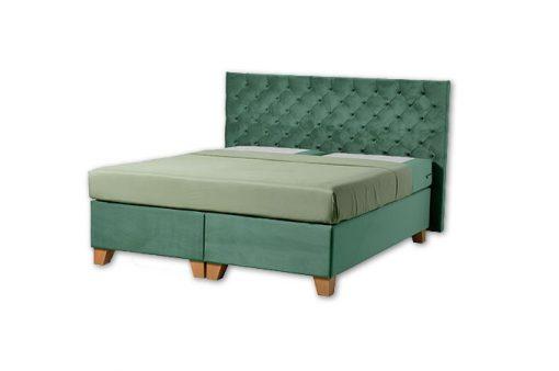Komfortná čalúnená posteľ hotelového typu BED-BOX, FLORENCIA 3 v zelenej farbe.