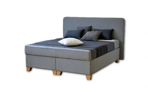 Komfortná posteľ hotelového typu BED-BOX FLORENCIA 1 v šedej farbe.