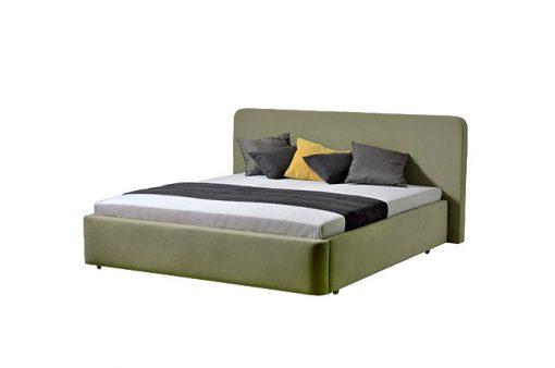 Moderná čalúnená posteľ SALERNO v zelenej farbe,